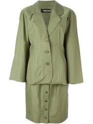 юбочный костюм в тонкую полоску Fendi Vintage