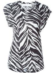 zebra print T-shirt Iro