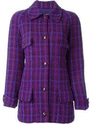 удлиненный твидовый пиджак Chanel Vintage