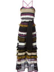 вязаное платье с принтом  Salvatore Ferragamo