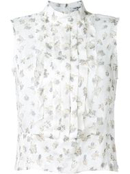 floral print pleated panel tank top Cacharel