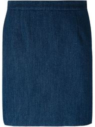 textured trim detail a-line skirt Sonia By Sonia Rykiel