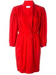 платье с рукавами фонариком Yves Saint Laurent Vintage