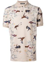 футболка-поло с принтом птиц Dolce & Gabbana