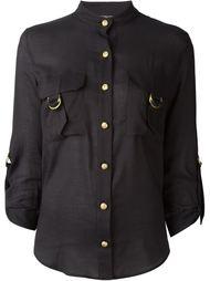 рубашка с воротником-мандарин Balmain