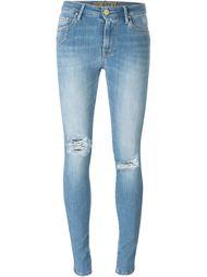 джинсы скинни с потертой отделкой Don't Cry