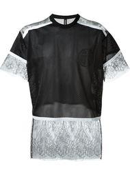 футболка с прозрачным подолом  Astrid Andersen
