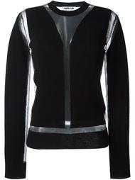 свитер с прозрачной вставкой McQ Alexander McQueen