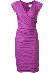 v-neck dress Nicole Miller