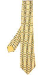 галстук с плетеным узором Hermès Vintage