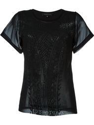 полупрозрачная футболка с кружевным узором Barbara Bui