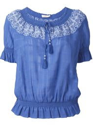 embroidered blouse Tory Burch
