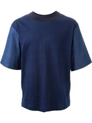 футболка с контрастными рукавами  Juun.J