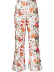 расклешенные брюки с цветочным принтом Emilia Wickstead