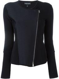 приталенная байкерская куртка  Emporio Armani