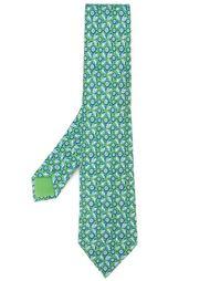 галстук с принтом лимонов Hermès Vintage