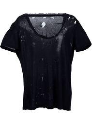 футболка с рваными деталями Unravel