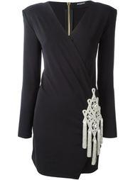 платье с контрастной нашивкой Balmain