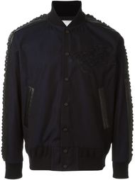 textured sleeve bomber jacket Sacai