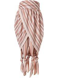 полосатая плиссированная юбка G.V.G.V.