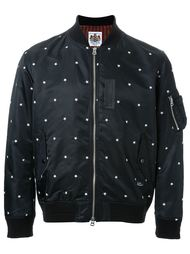 куртка-бомбер с вышивкой звезд  Education From Youngmachines