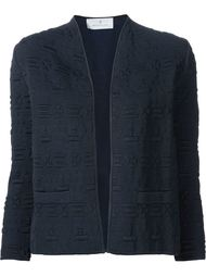 embossed open jacket Maison Ullens