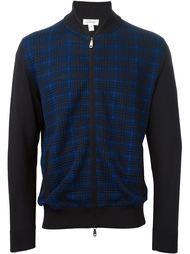 свитер в клетку с застежкой-молнией Brioni