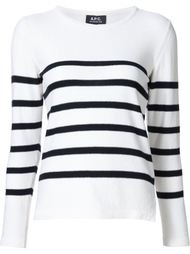 striped long sleeve top A.P.C.