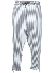 striped cropped trousers Vivienne Westwood Man