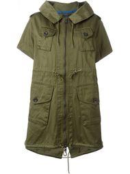пиджак с капюшоном и поясом на шнуровке  Diesel