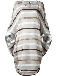 полосатое платье с массивными манжетами Junya Watanabe Comme Des Garçons