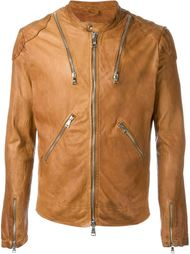 leather zip jacket Giorgio Brato