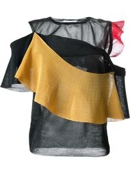 футболка 'Bright' с контрастными рюшами Toga