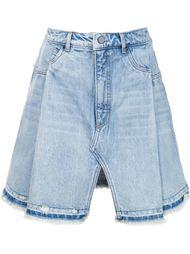 джинсовая юбка с разрезом спереди T By Alexander Wang
