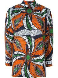 рубашка с абстрактным принтом Junya Watanabe Comme Des Garçons