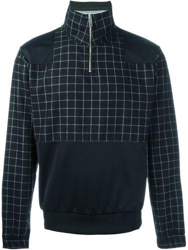 front neck paneled sweater Han Kjøbenhavn