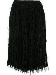 юбка с бахромой  Marco De Vincenzo