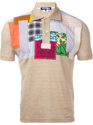 рубашка-поло с лоскутным принтом Junya Watanabe Comme Des Garçons Man