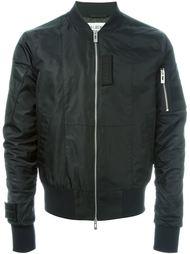 куртка-бомбер с кожаными заплатками Han Kjøbenhavn