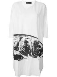 платье-футболка с абстрактным принтом Area Di Barbara Bologna