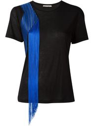 embroidered fringed T-shirt Christopher Kane