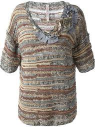 v-neck embellished knit top Antonio Marras
