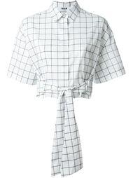 укороченная рубашка в клетку MSGM