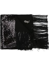 шарф с пайетками Saint Laurent