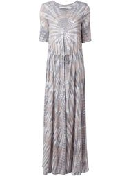 drawstring tie dye maxi dress Raquel Allegra