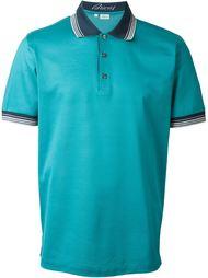 футболка-поло с контрастным воротником   Brioni