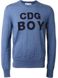 crew-neck logo sweatshirt Comme Des Garçons Shirt Boy