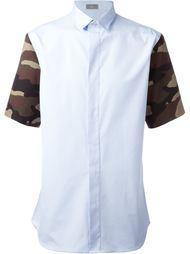 рубашка с камуфляжным принтом на рукавах Dior Homme