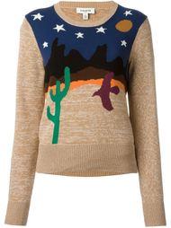 свитер с пустыней в технике интарсия Coach