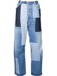 wide-leg patchwork jeans Off-White